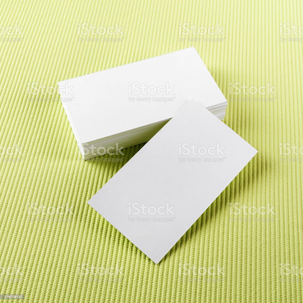 Blank Business Cards stock photo 476729132 | iStock