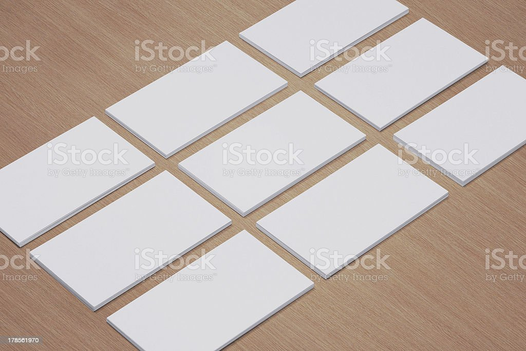 Blank Business Cards with soft shadows royalty-free stock photo