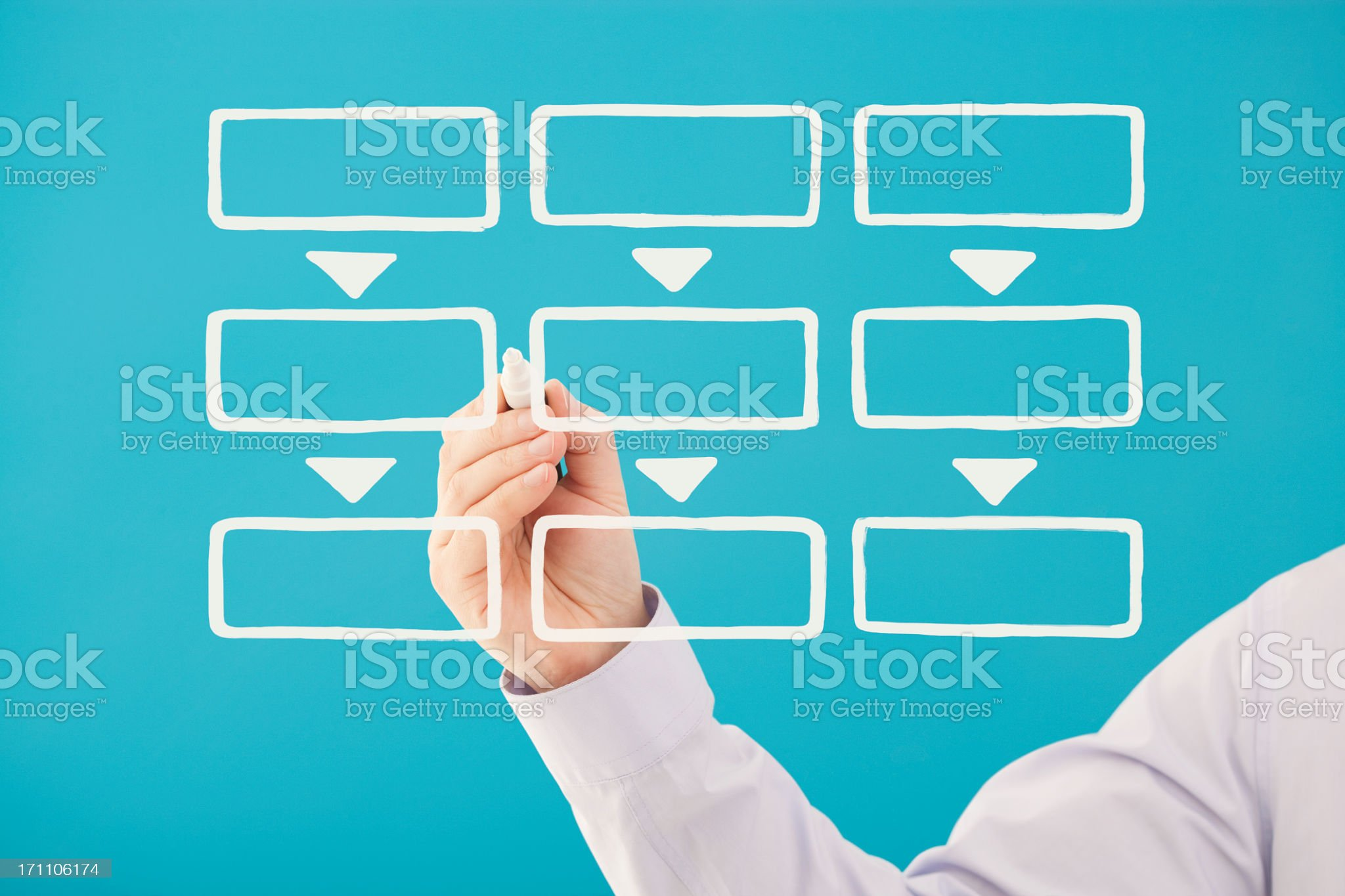 Blank business flow chart royalty-free stock photo