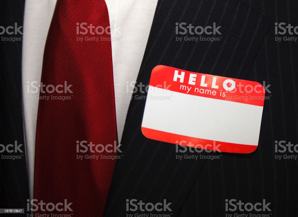 Blank Business Nametag stock photo