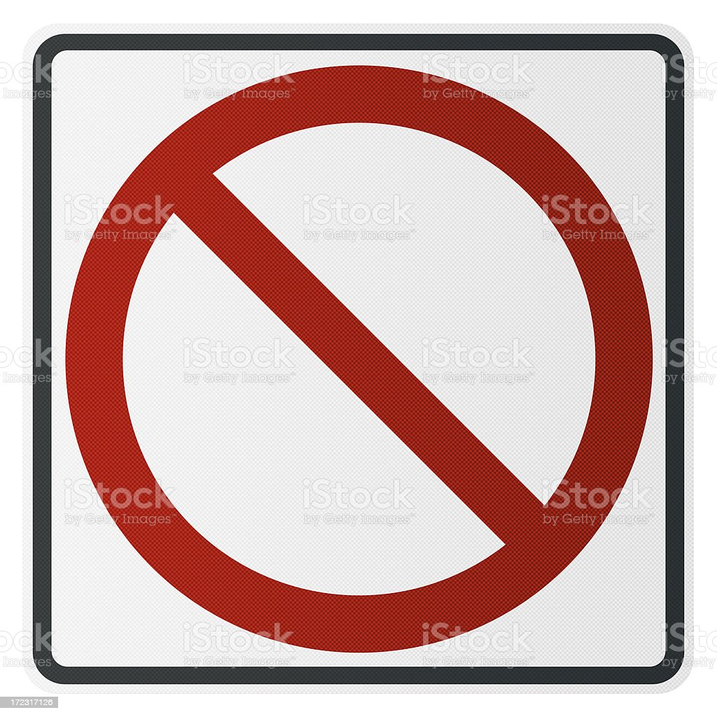 blank buster street sign with path stock photo
