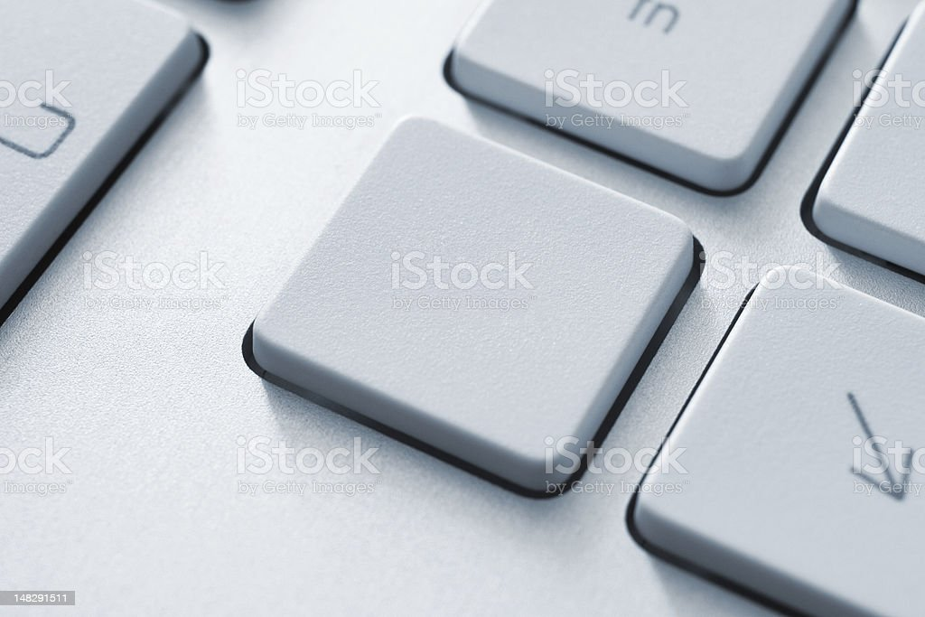 Blank Button On Keyboard royalty-free stock photo