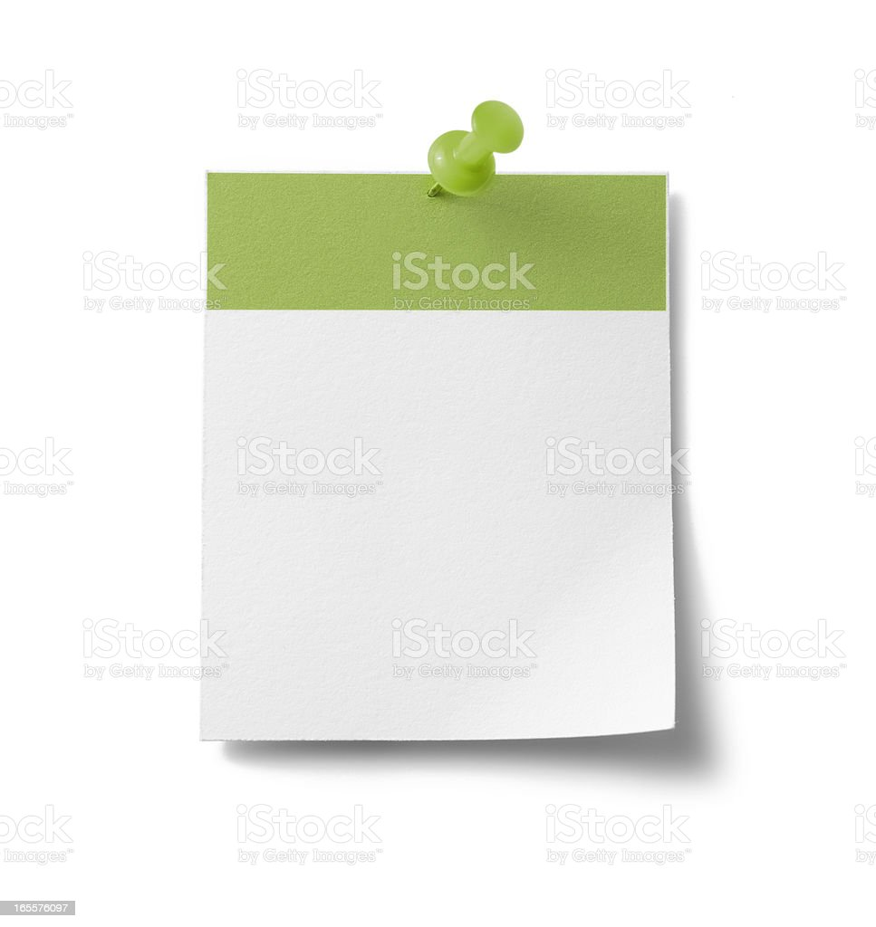 Blank calendar page - green royalty-free stock photo