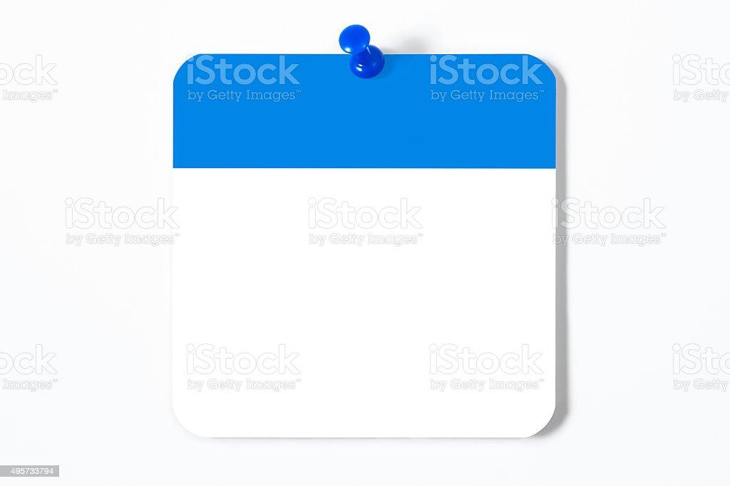 Blank Calendar Page stock photo