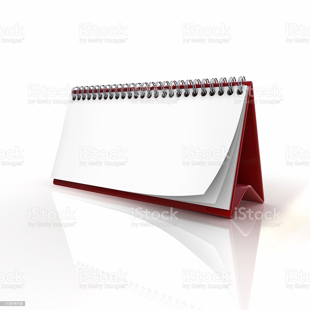 blank calendar royalty-free stock photo