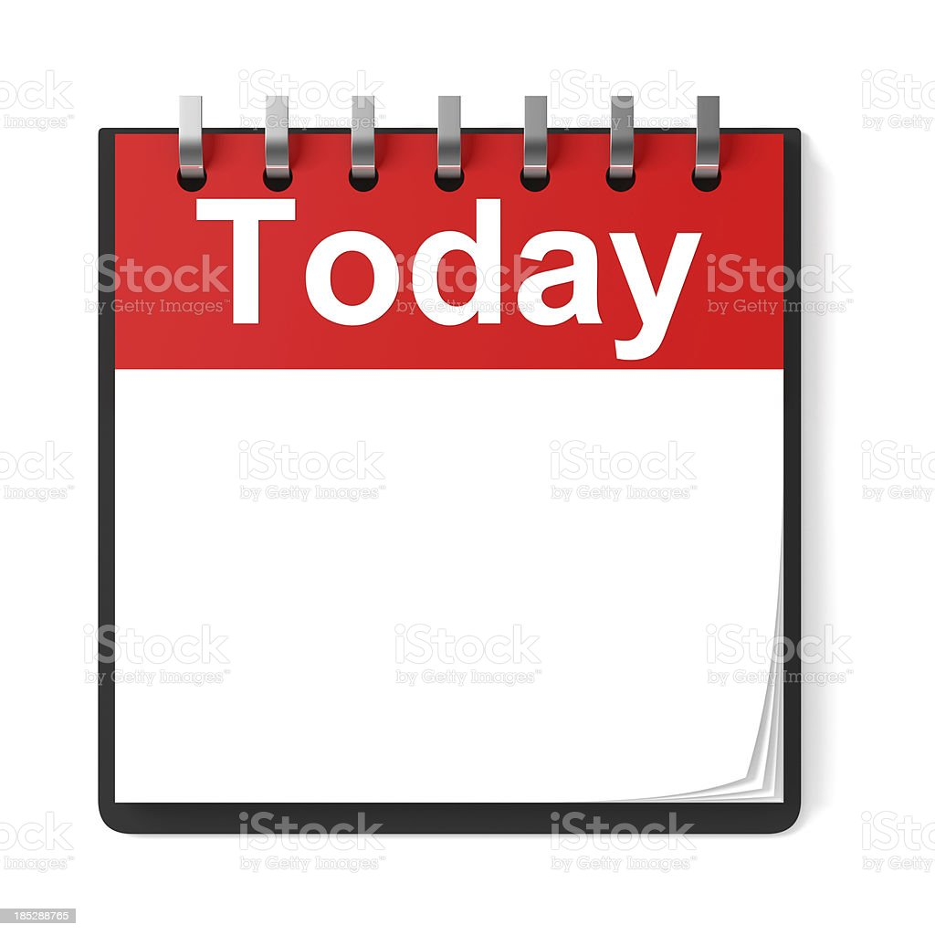 Blank Calendar Today stock photo