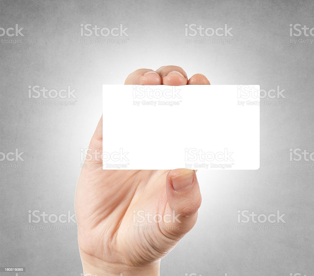 Blank calling card royalty-free stock photo