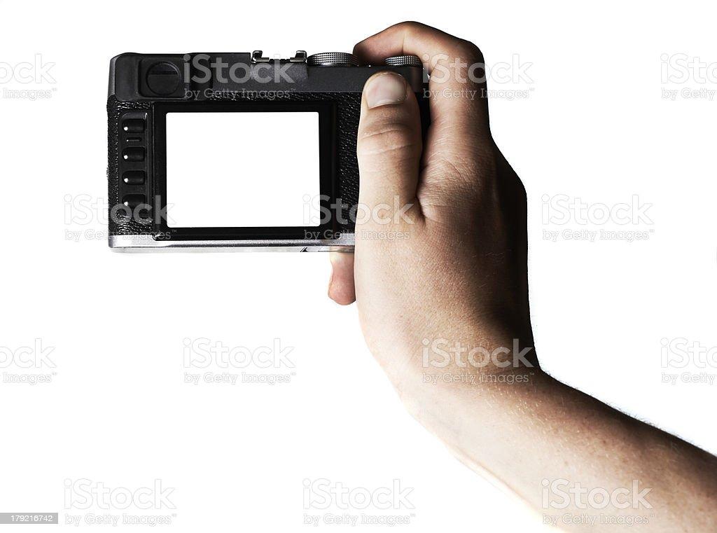 Blank camera royalty-free stock photo