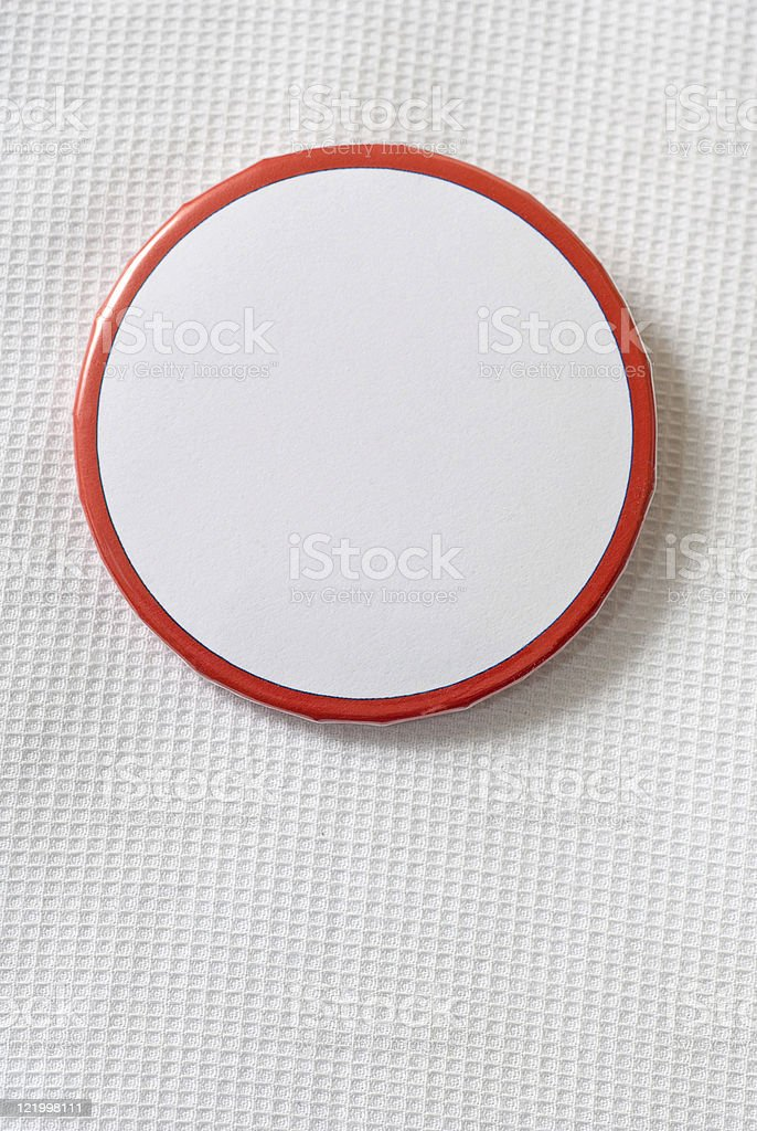 Blank Campaign Button Series #6 stock photo