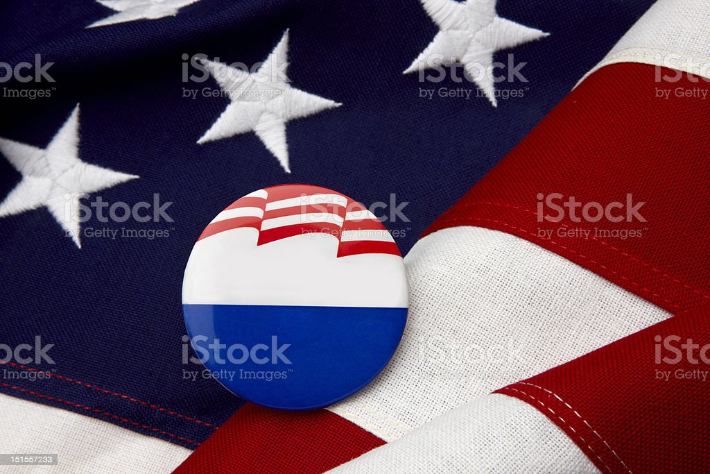Blank campaign button-just add candidate's name royalty-free stock photo