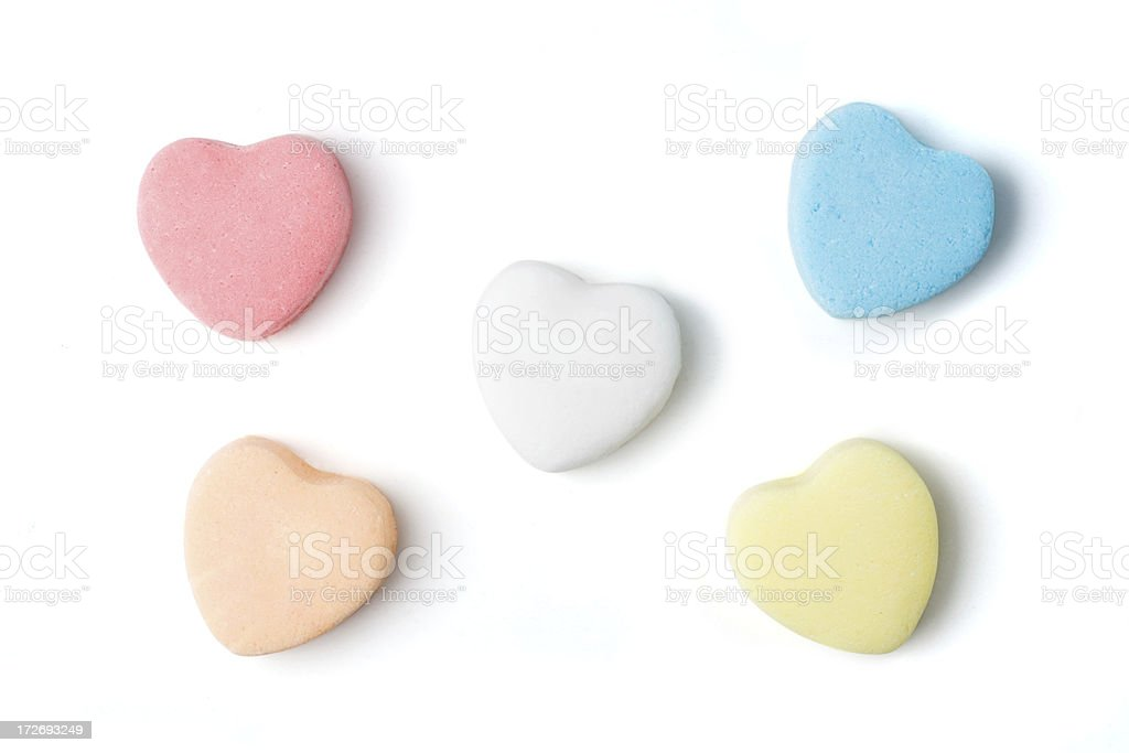 Blank Candy Hearts stock photo