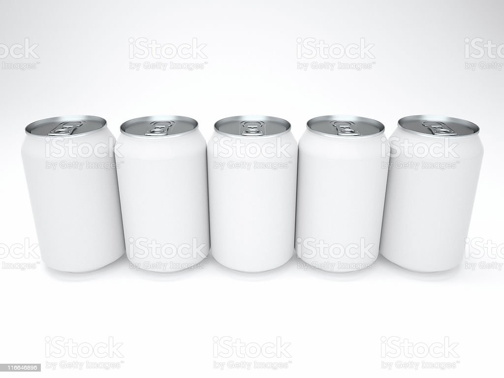 blank cans stock photo