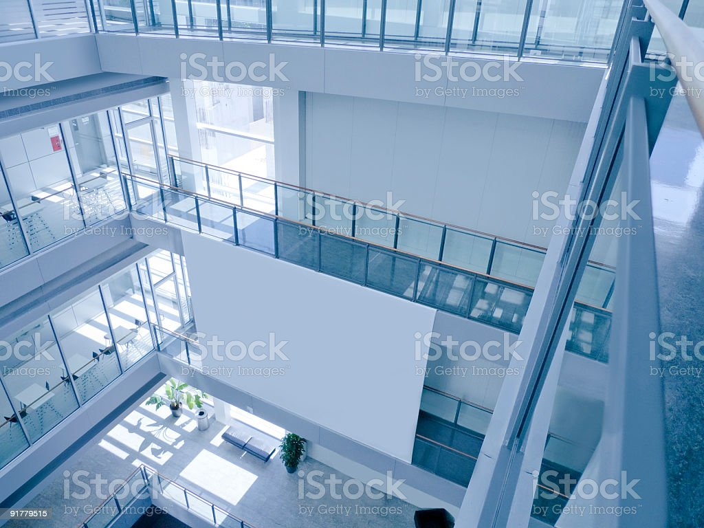 Blank Canvas in a Modern Office Building royalty-free stock photo
