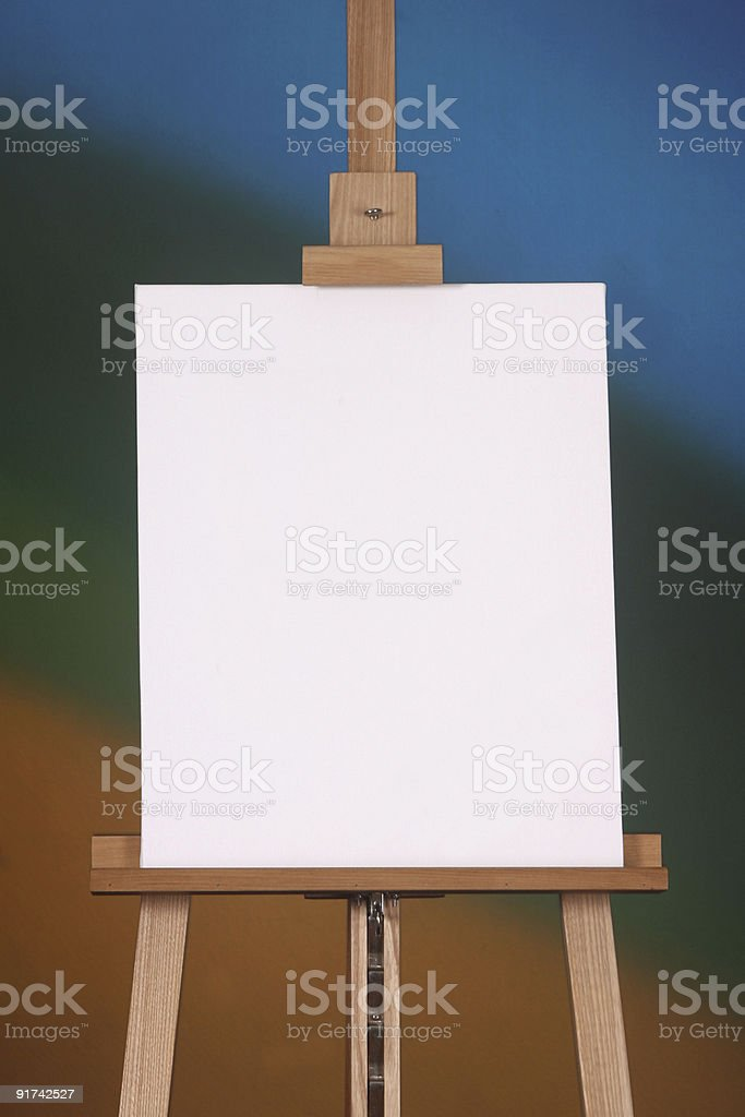 Blank canvas on a rainbow background royalty-free stock photo