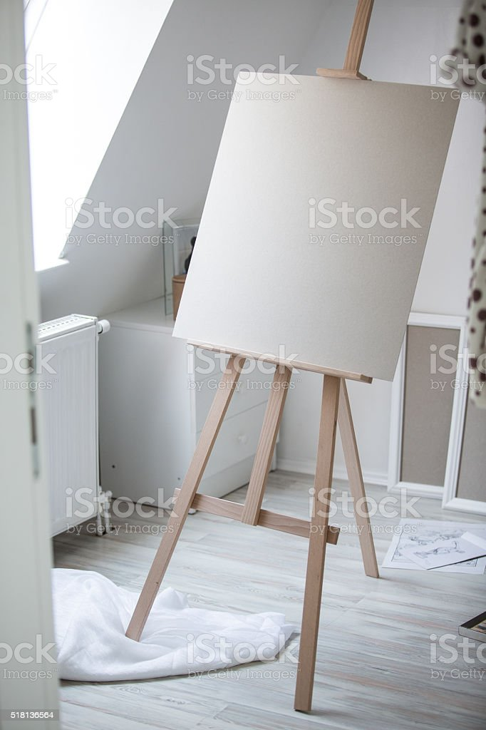 artists studio lighting. art studio with an easel and blank canvases pictures images stock photos artists lighting l