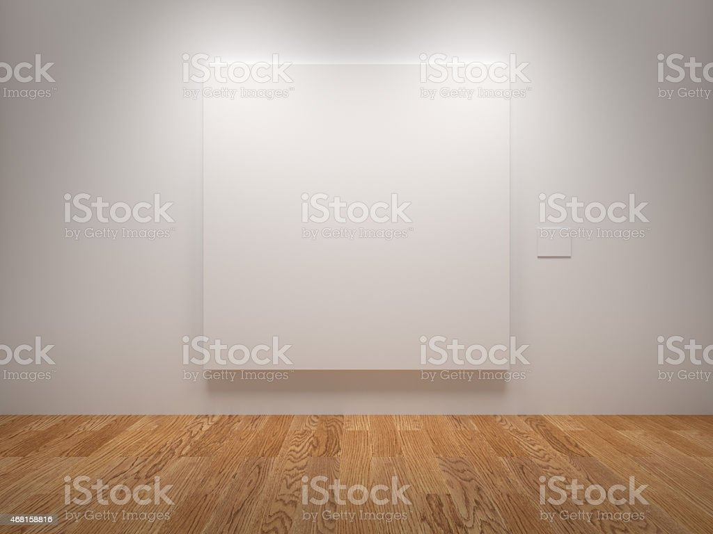 Blank Canvas stock photo