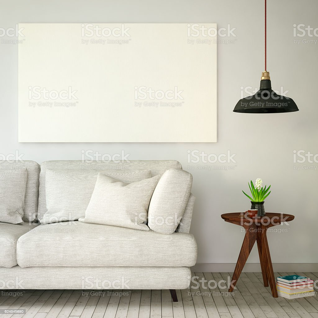 Blank Canvas Poster stock photo