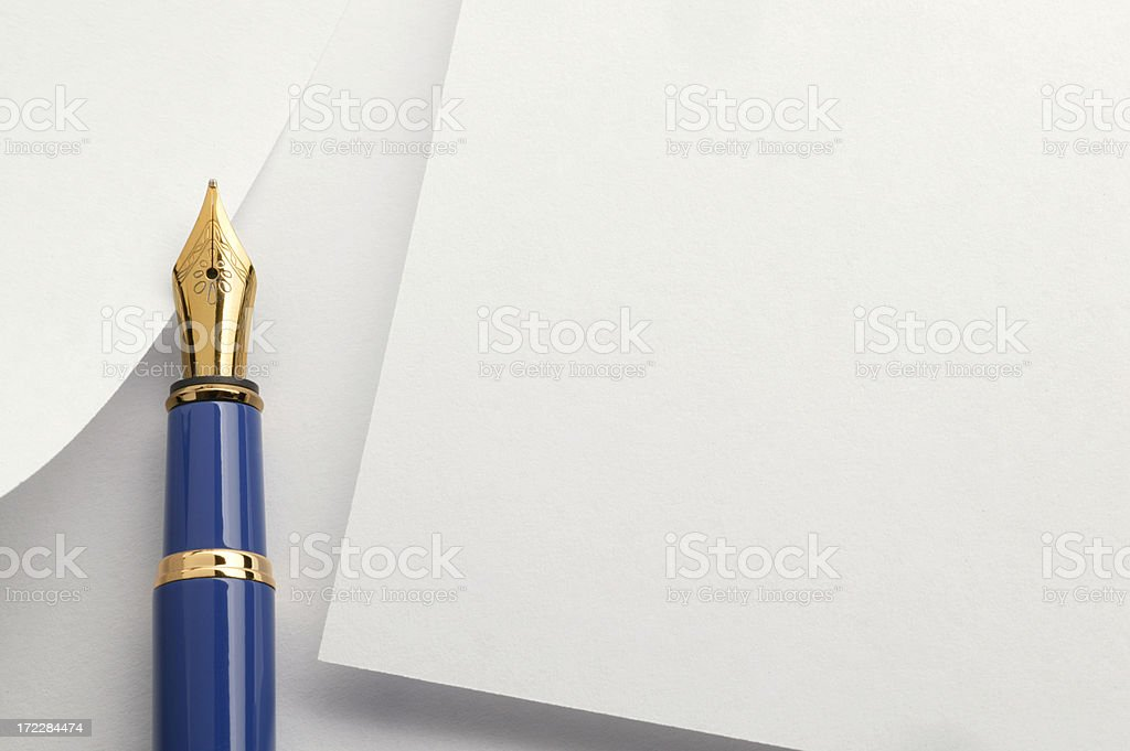 Blank Card and Pen royalty-free stock photo