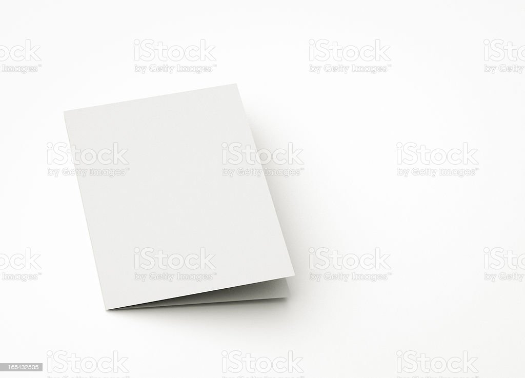 blank card for message stock photo