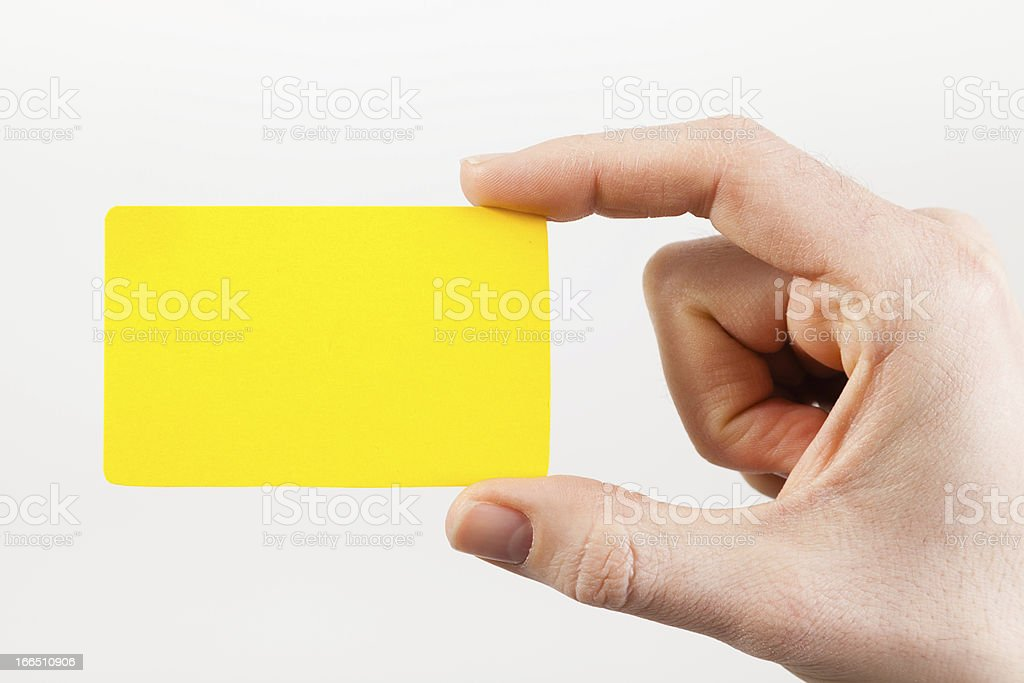 Blank card in hand royalty-free stock photo