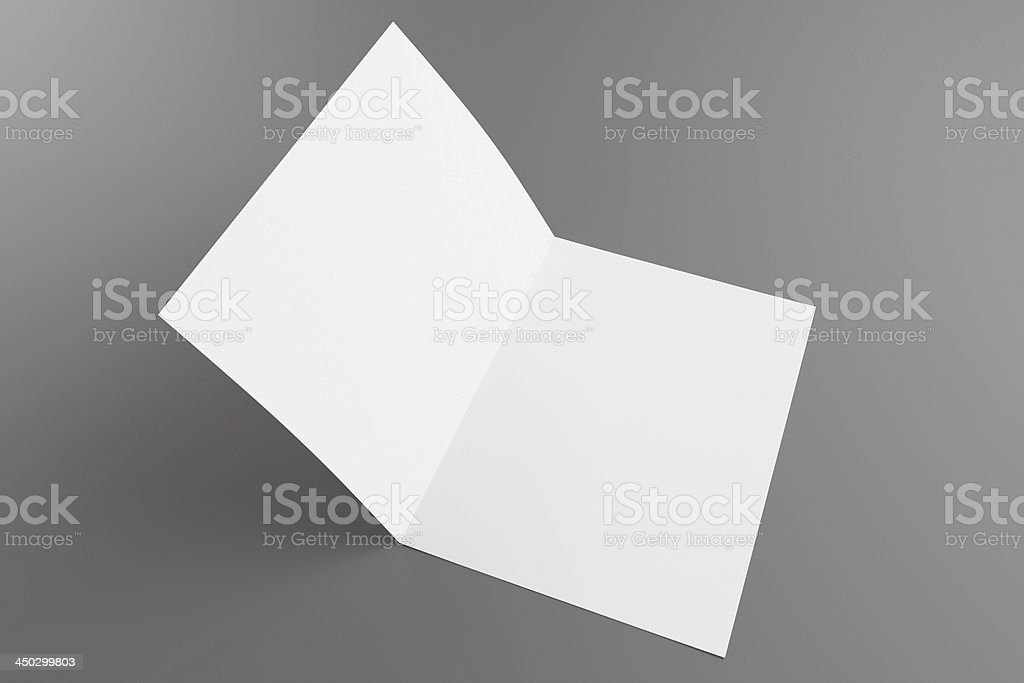 Blank card isolated on grey stock photo