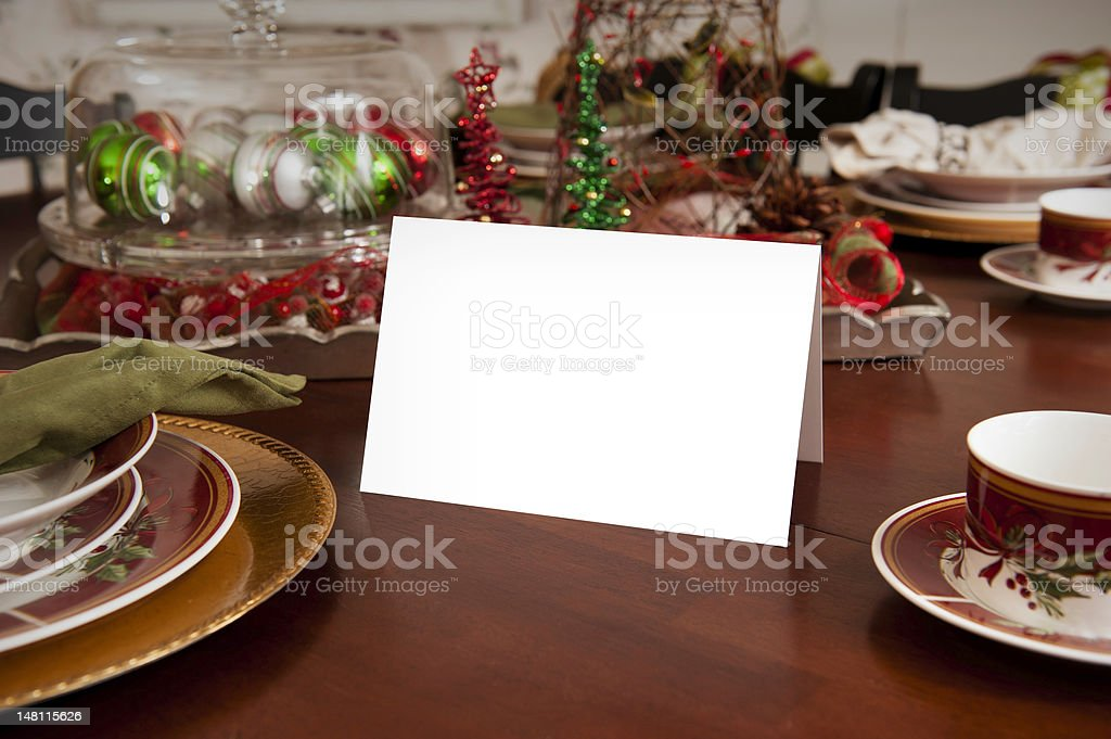 Blank Card on Table royalty-free stock photo