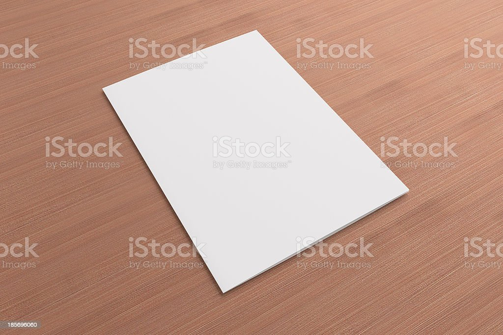 Blank card on wooden background royalty-free stock photo