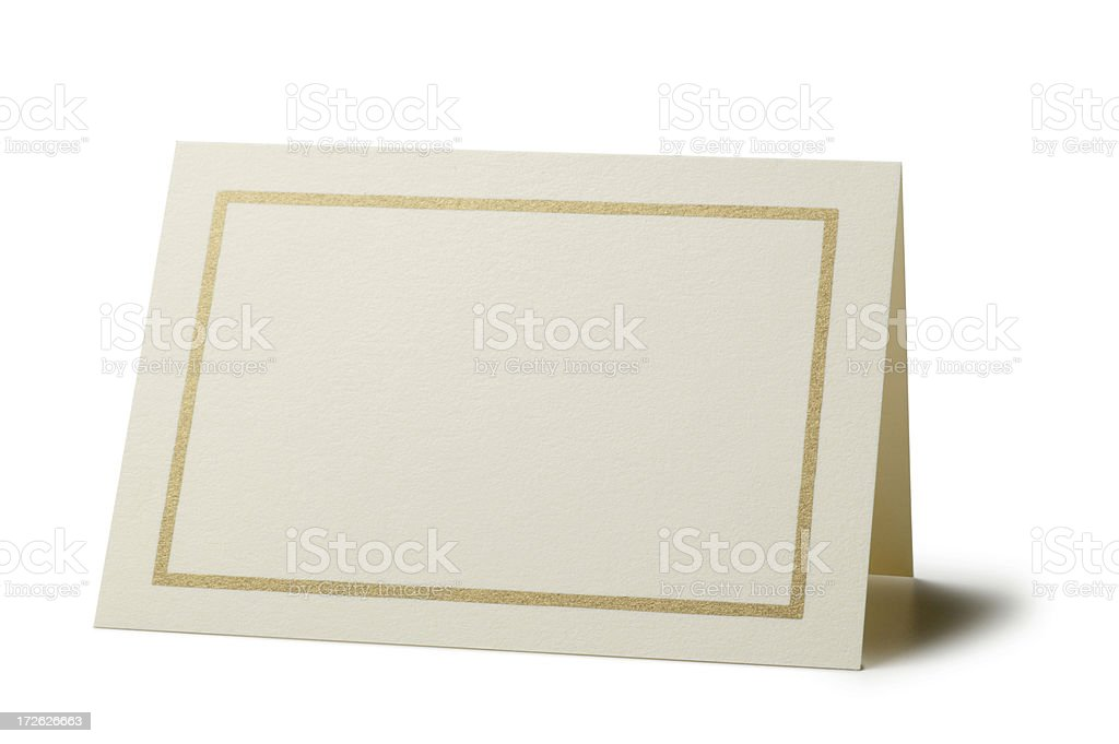 Blank Card stock photo