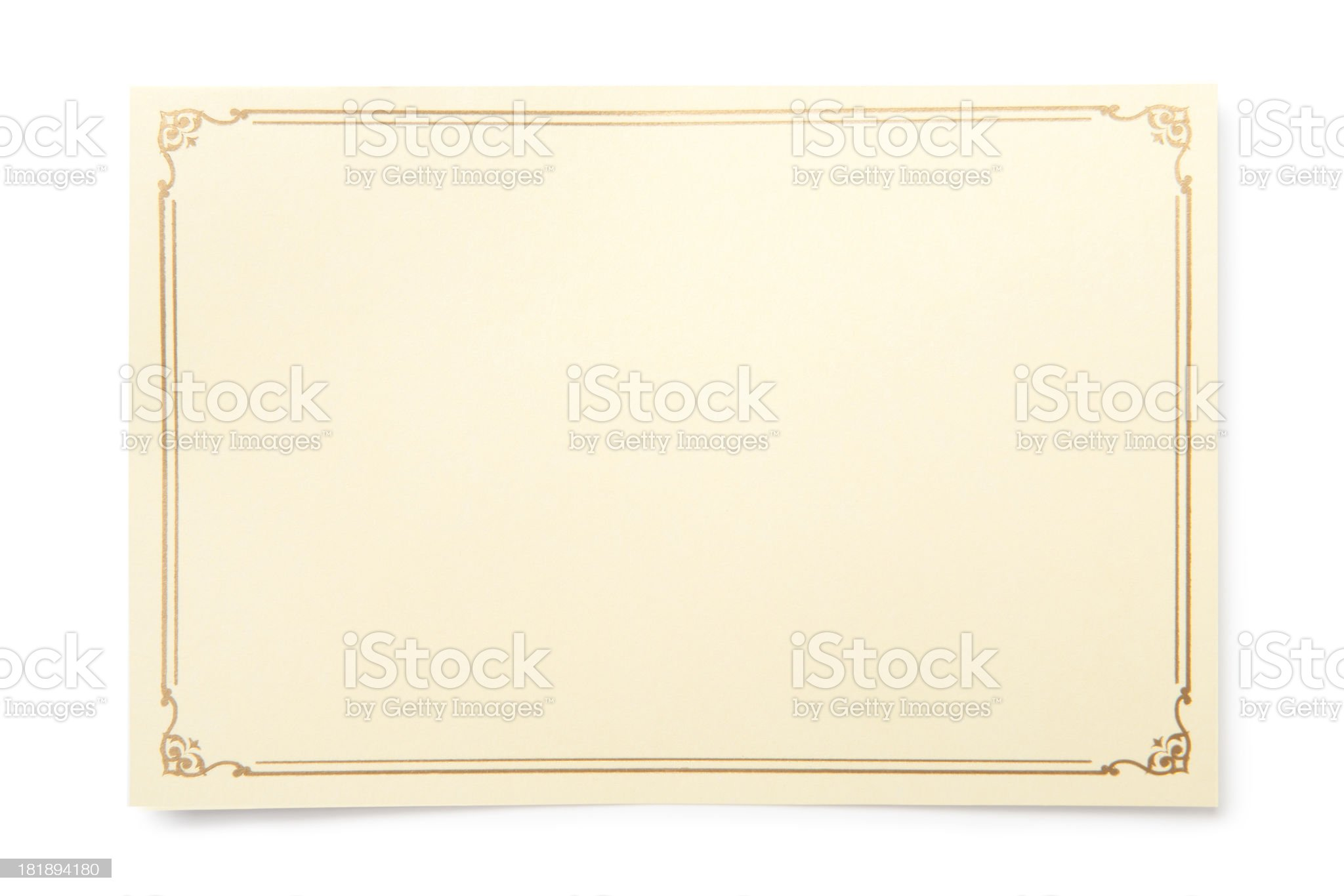 Blank card royalty-free stock photo
