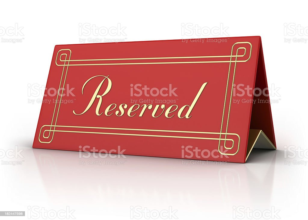 Blank Card - Reserved royalty-free stock photo