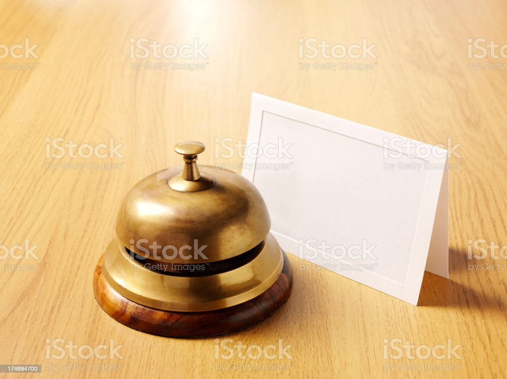 Blank Card with a Concierge Bell royalty-free stock photo