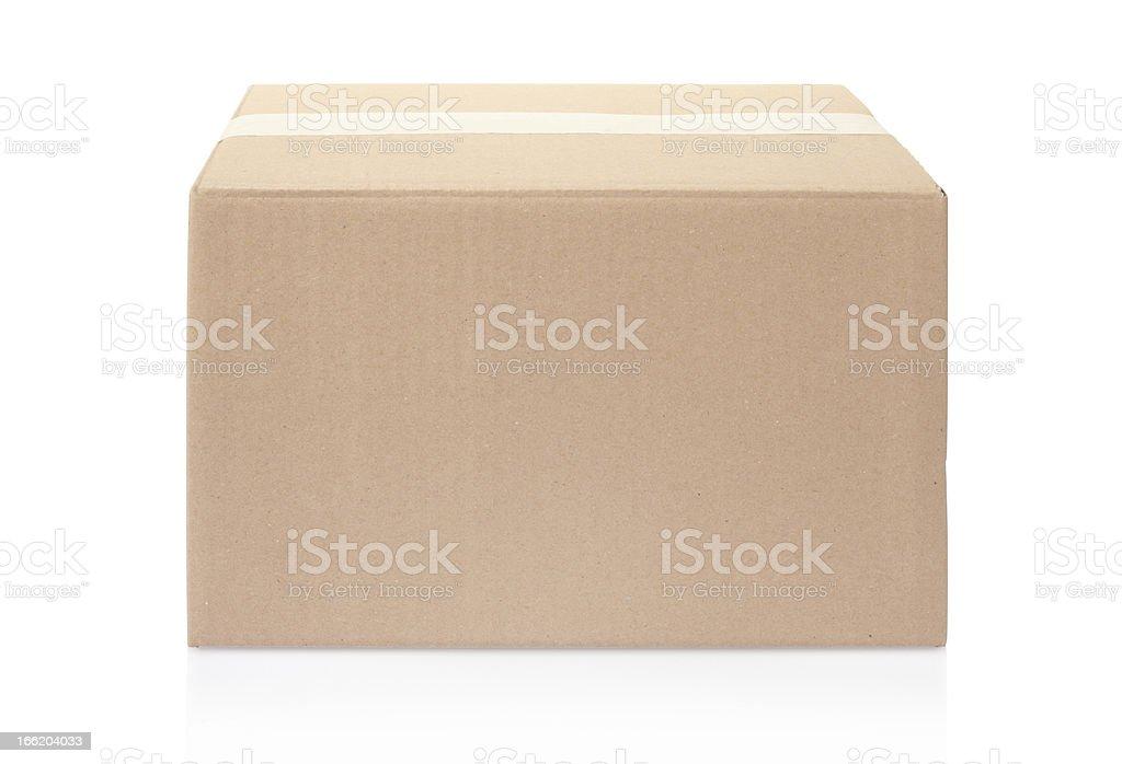 Blank cardboard box stock photo