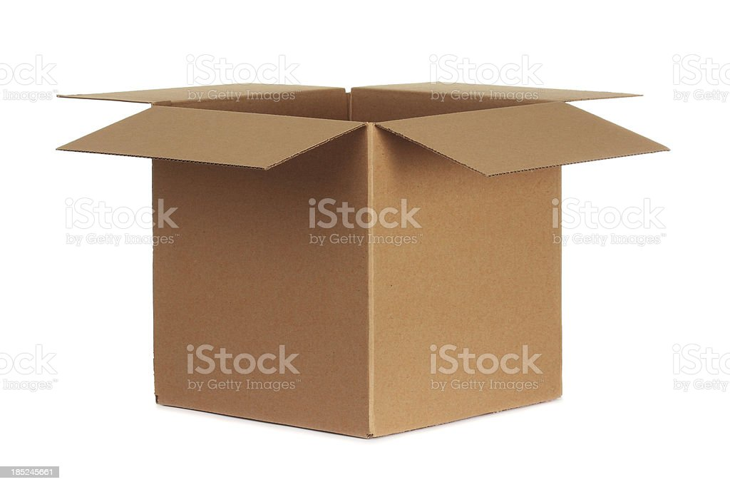 Blank Cardboard Box stock photo