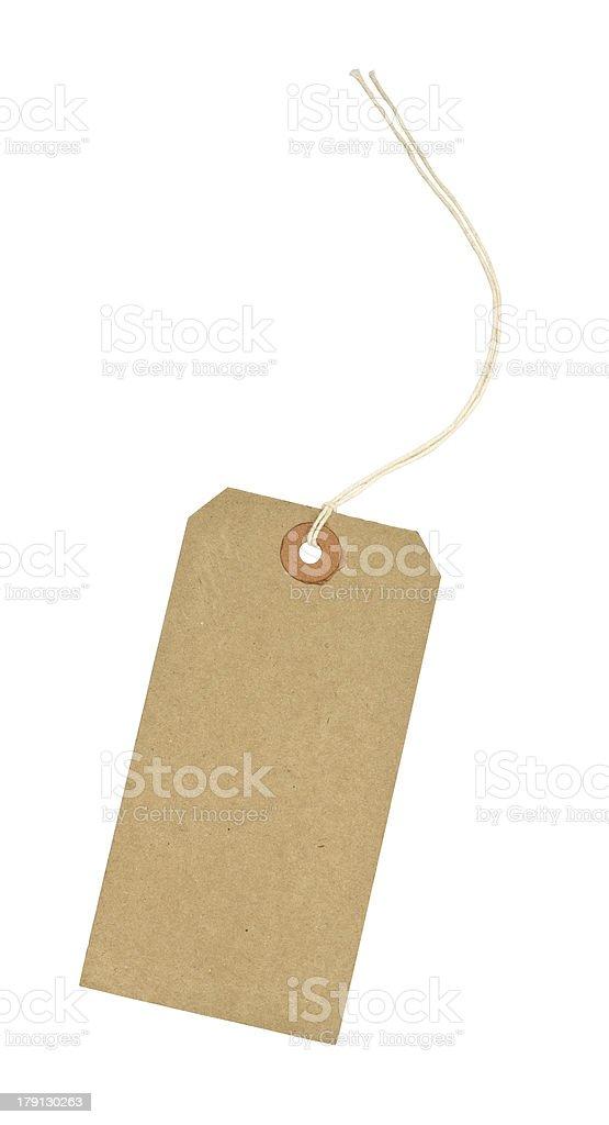 Blank Cardboard luggage identification tag stock photo