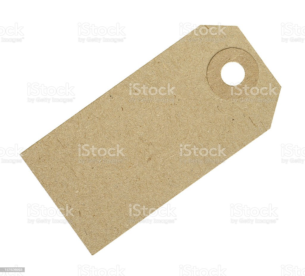 Blank Cardboard Tag Label royalty-free stock photo