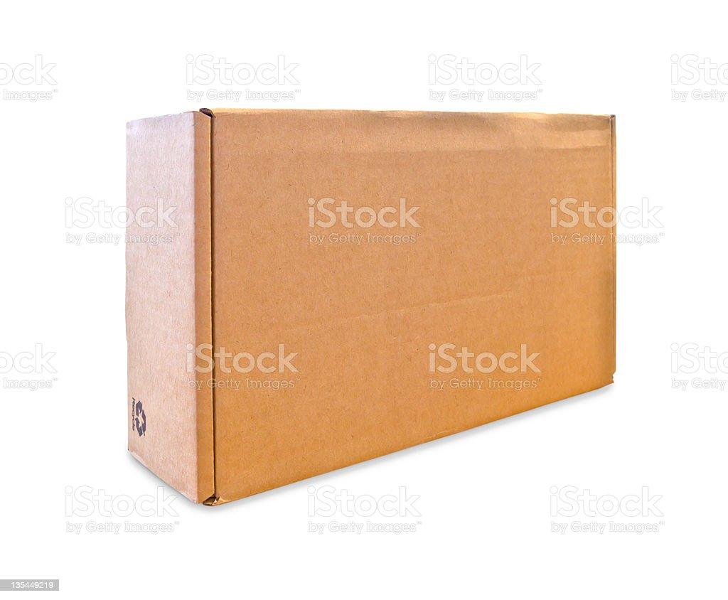 cardbox vuoto isolato su sfondo bianco foto stock royalty-free