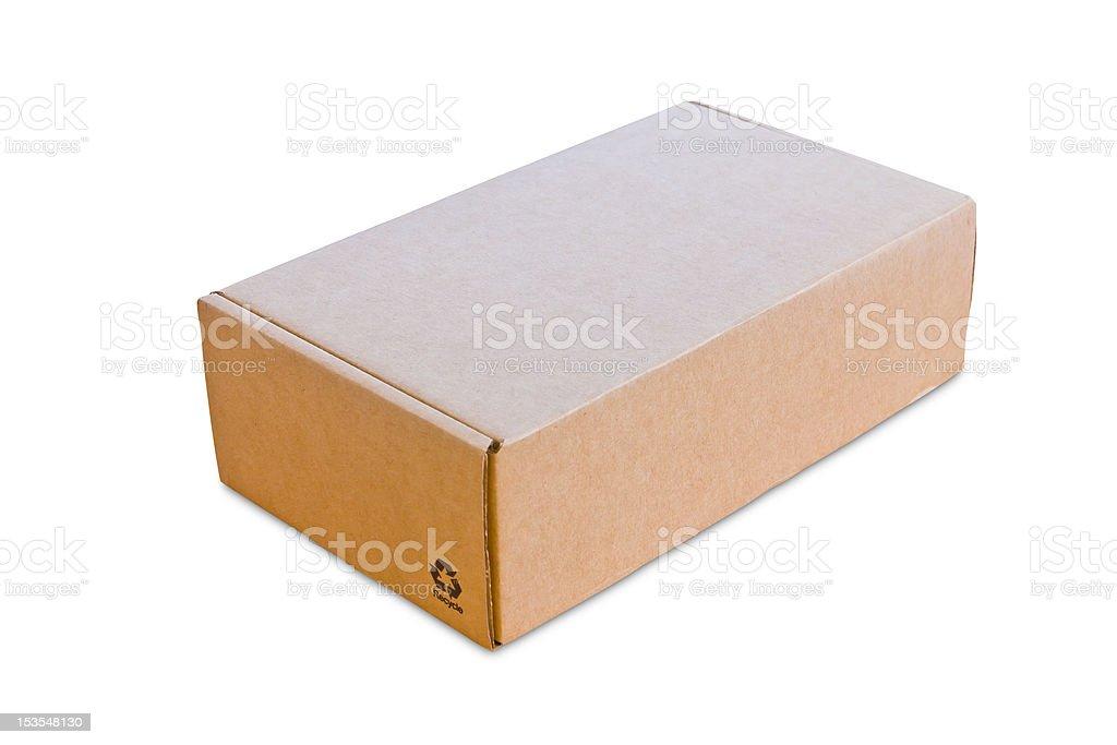 Vuoto cardbroad casella isolato foto stock royalty-free