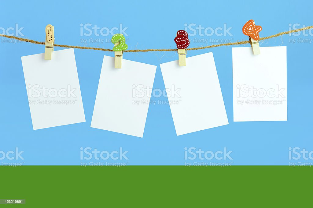 Blank cards royalty-free stock photo