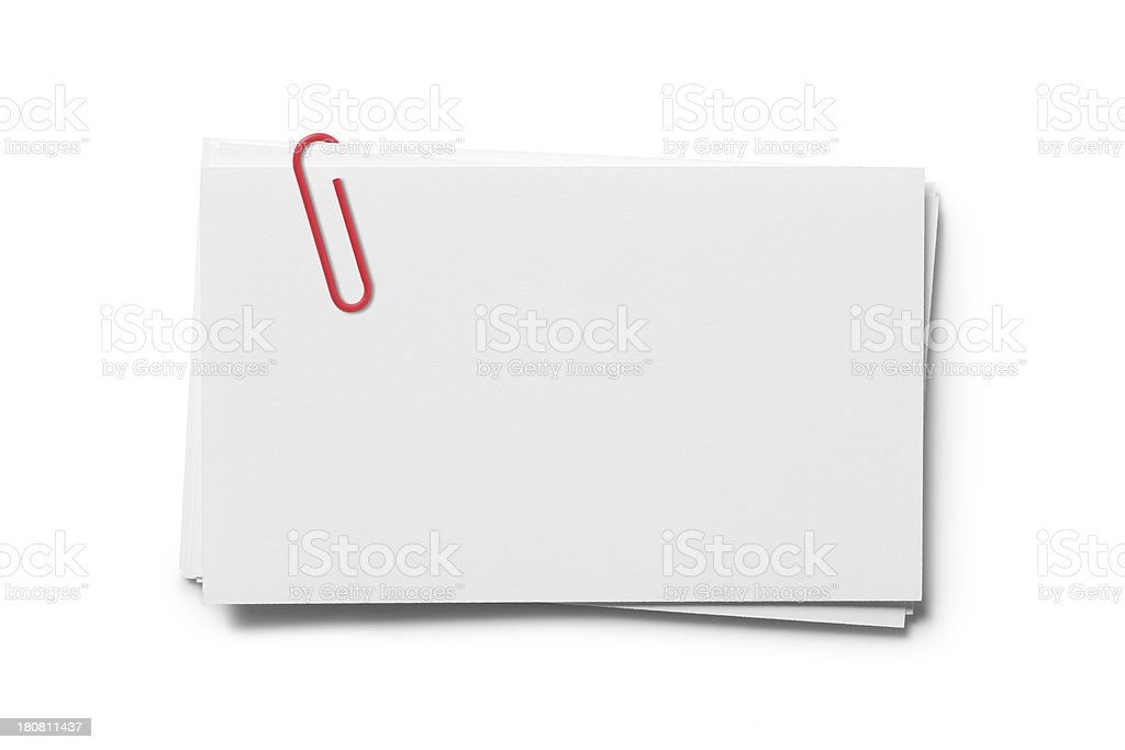 Blank Cards with paper Clip royalty-free stock photo