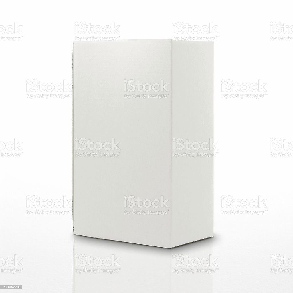 blank carton box for message royalty-free stock photo