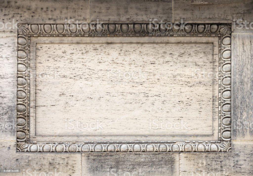 Blank carved stone frame stock photo