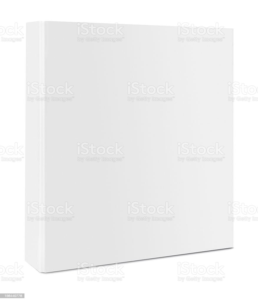 Blank case binder stock photo