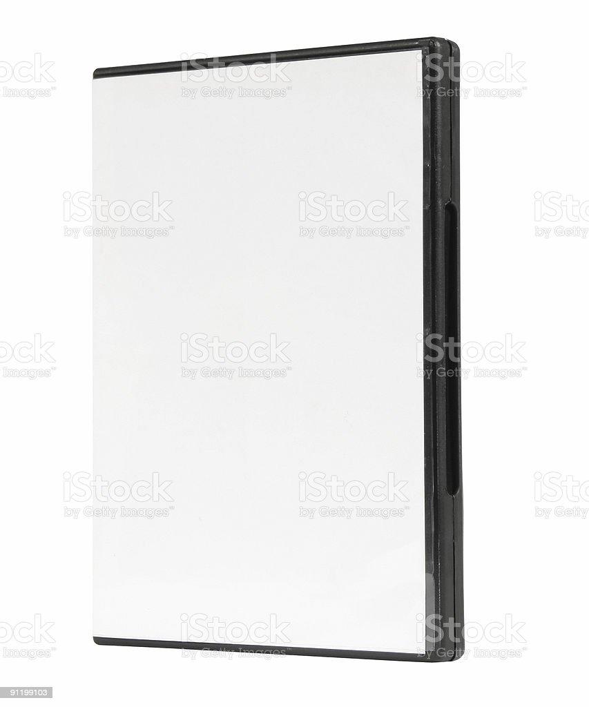 DVD blank case, dvd box royalty-free stock photo