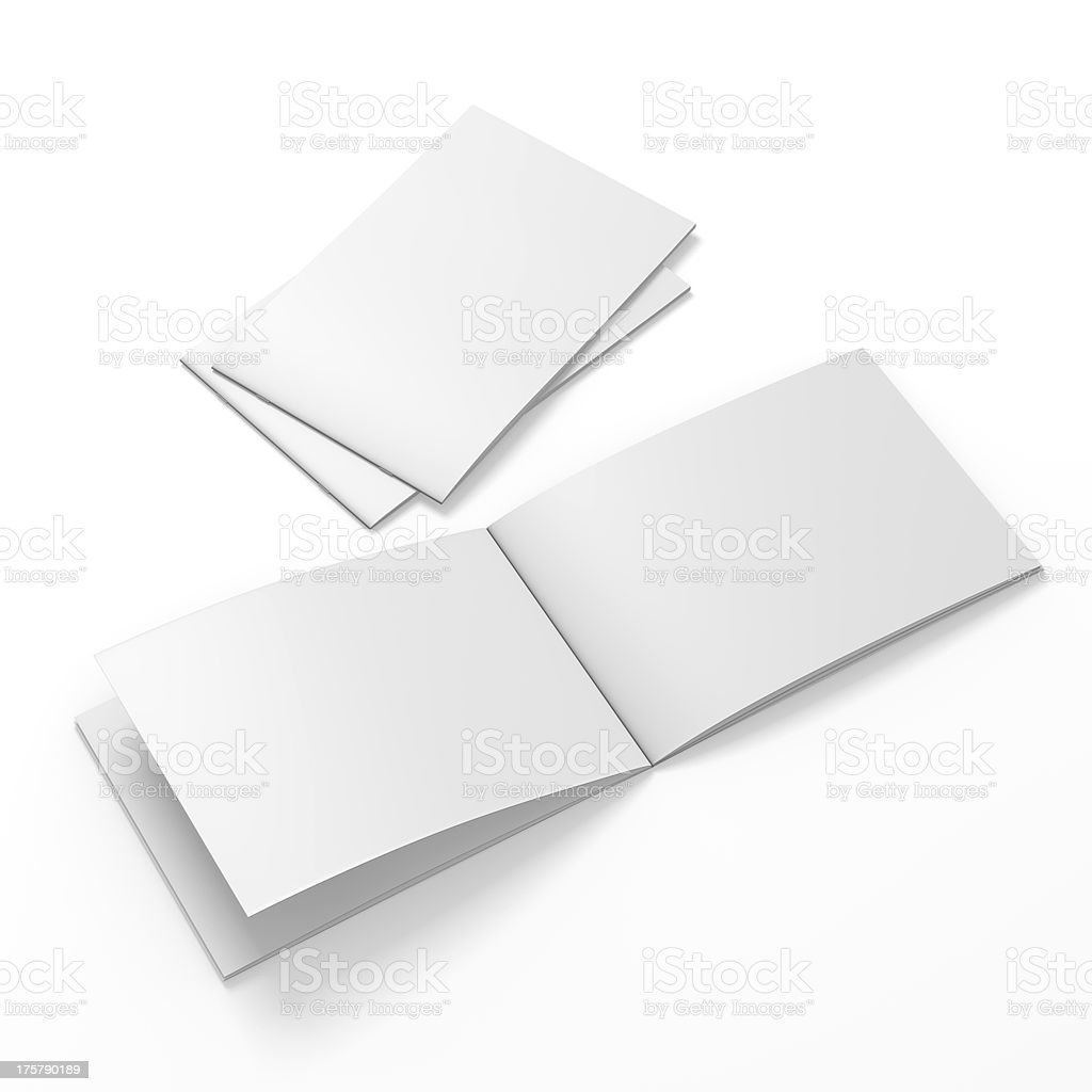 blank catalog in an a4 size stock photo