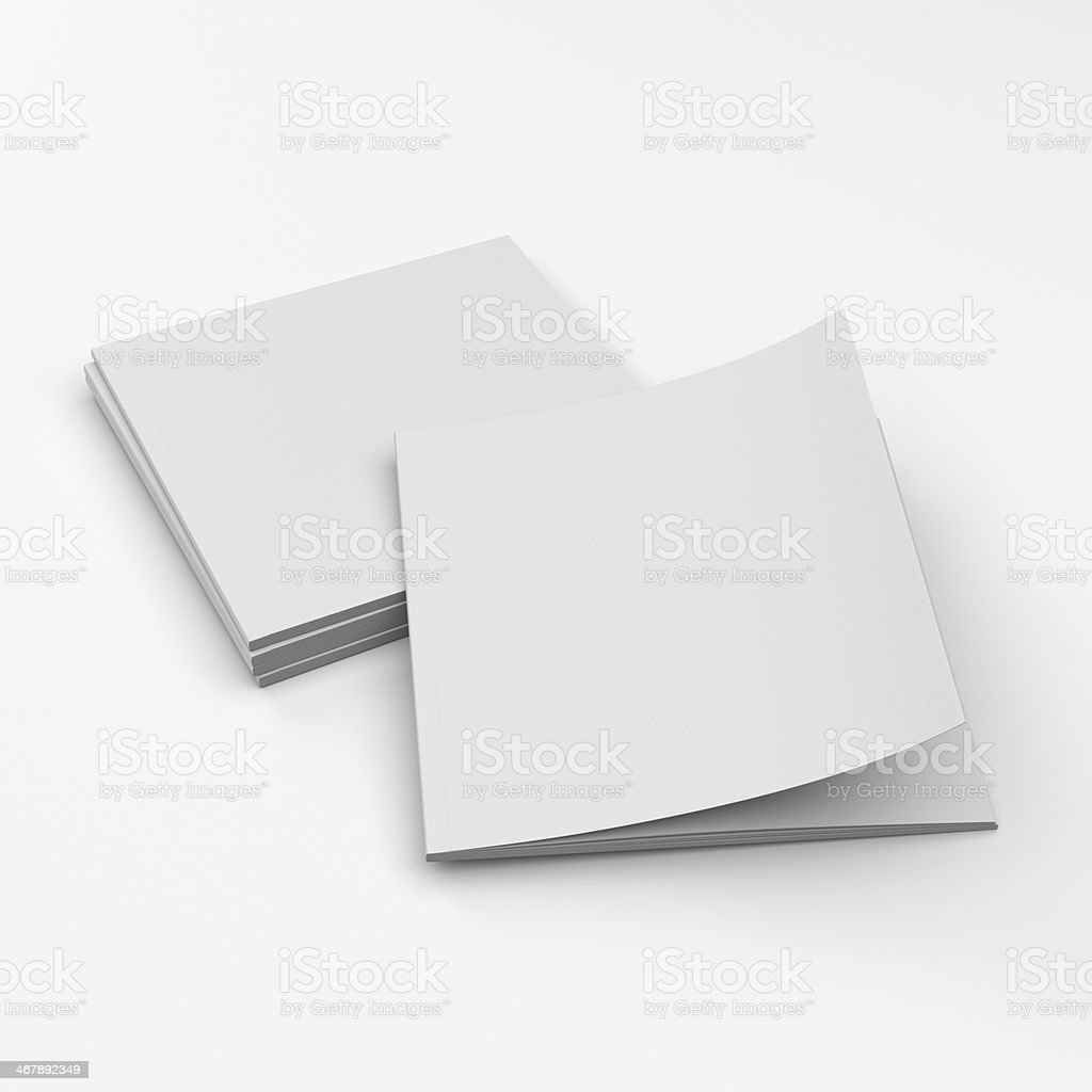 blank catalogs composition stock photo