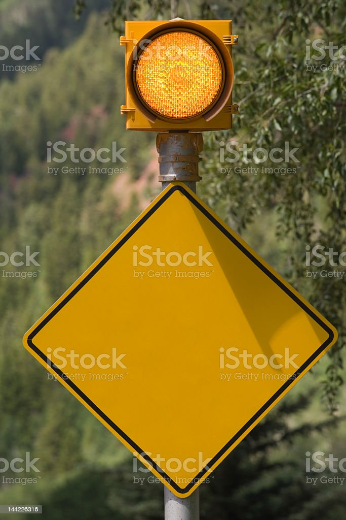 Blank Caution Sign royalty-free stock photo