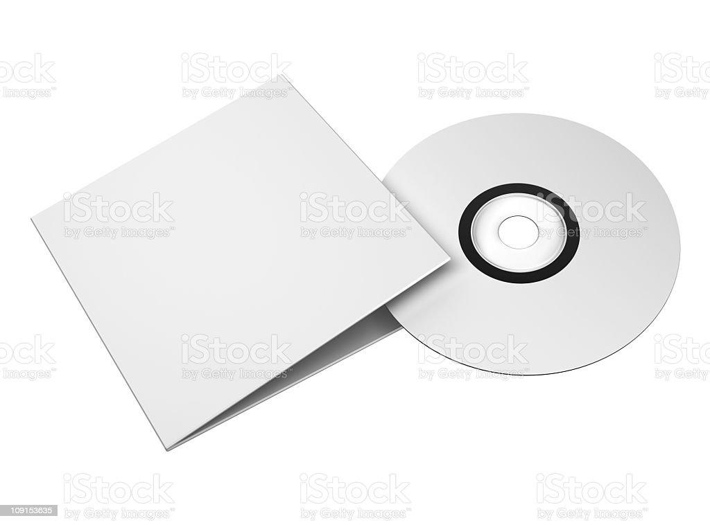 blank cd case stock photo