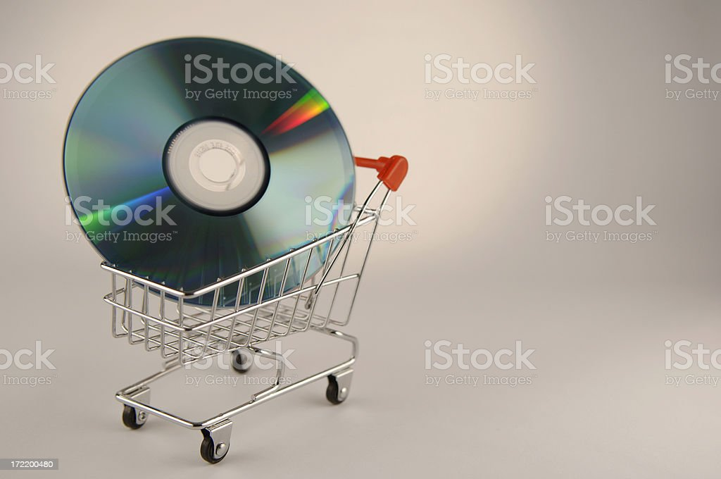 blank cd case royalty-free stock photo