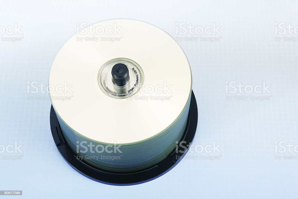 Blank CDRs royalty-free stock photo