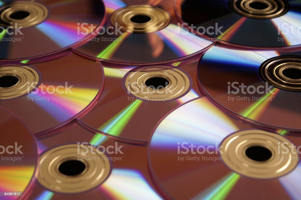 Blank CD's or DVD's stock photo